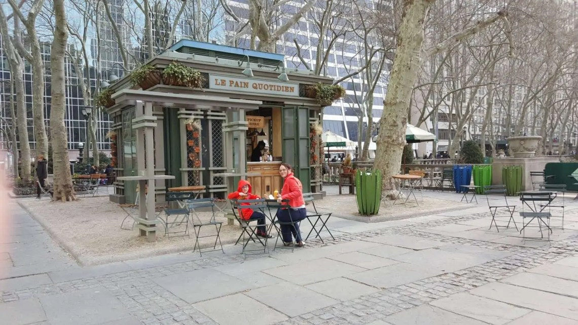 Breakfast at Bryant Park