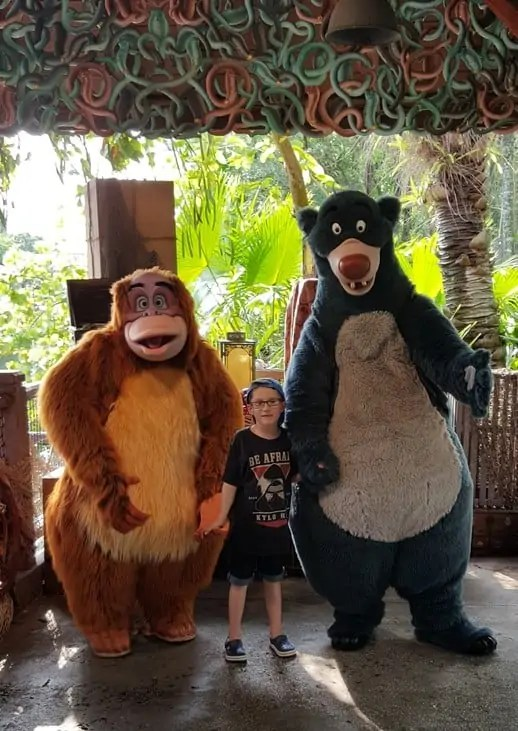 Meeting Characters at Disney World Orlando Florida