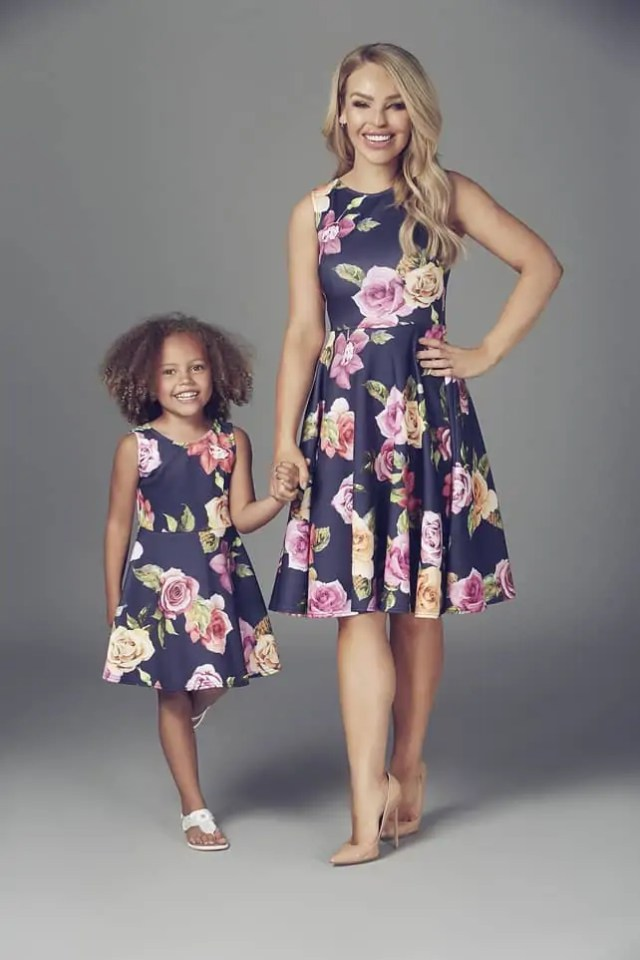 Mother and Daughter Matching Outfits by Katie Piper from Want that Trend