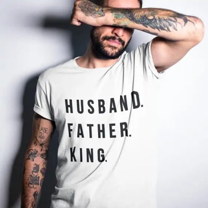 Husband Father King Tshirt Fathers day gift ideas