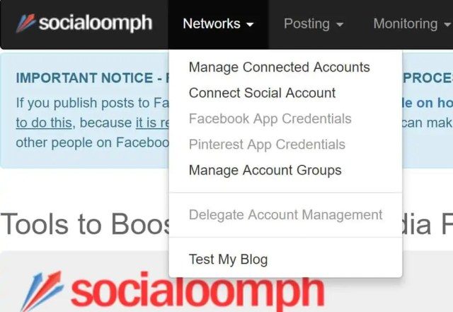 Social Oomph you need to connect your twitter account