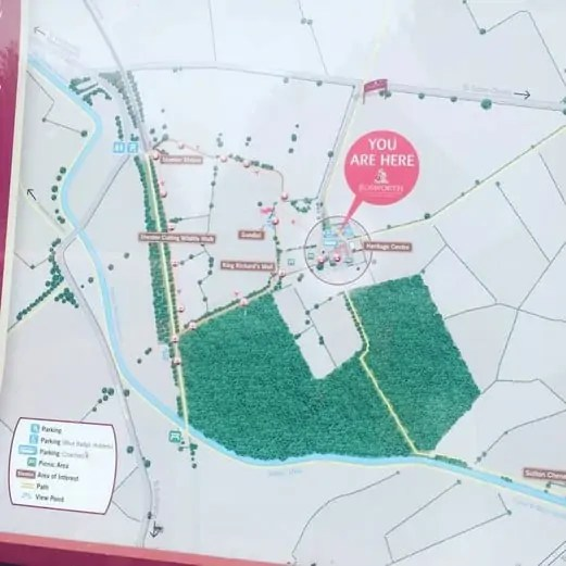 Map of Bosworth Battlefield Country Park