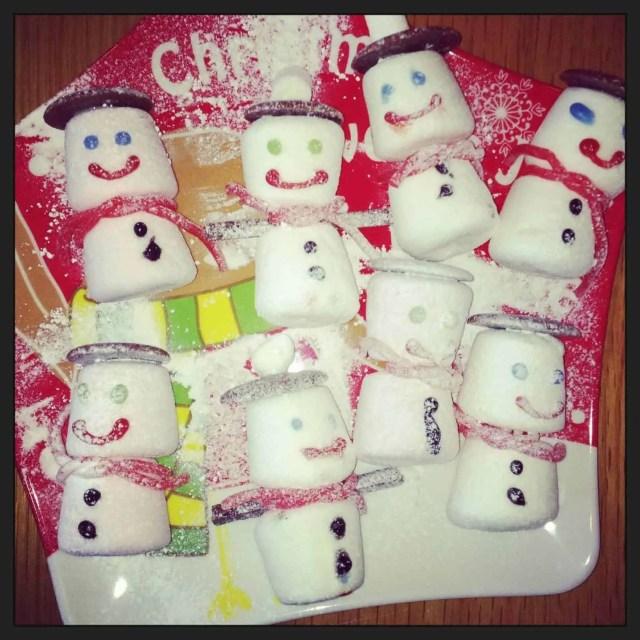 North Pole Breakfast Marshmallow Snowmen