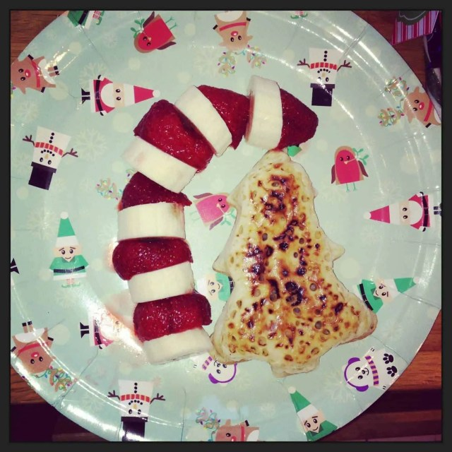 North Pole Breakfast Strawberry and Banana sleigh