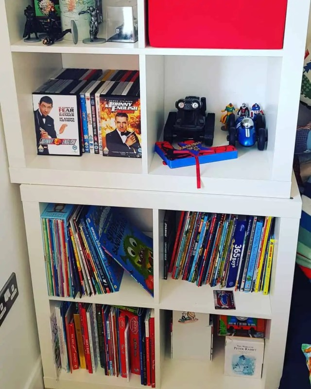 Books and DVD for gaming room