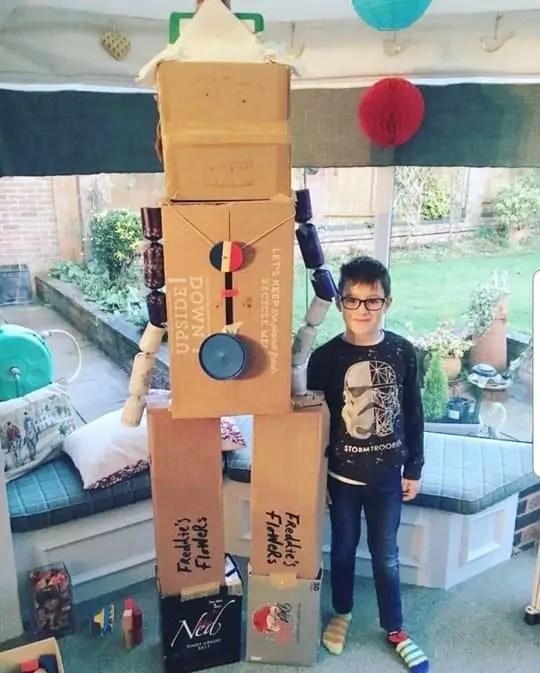 Homeschool Activities -Junk Modelling