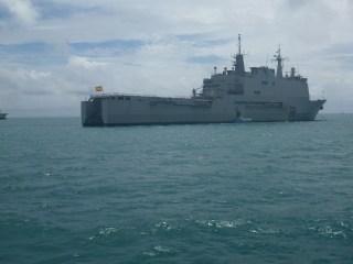 Bateau espagnol croisé en mer