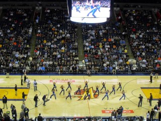 Match de basket à l'Oracle Arena d'Oakland