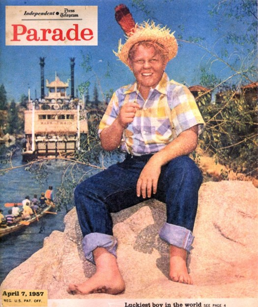 Tom Nabbe as Tom Sawyer on the cover of the April 7, 1957 issue of Parade Magazine.