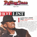 Lloyd Is #1 on Rolling Stone's Hot List
