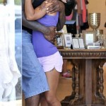 Shaq And Girlfriend Hoopz Show PDA