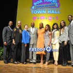 Steve Harvey and Susan L. Taylor Host Box Tops for Education Town Hall Meeting With Monica, Tisha Campbell Martin, Chilli, Marjorie Bridges