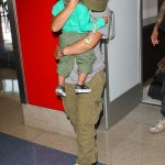 Alicia Keys And Swizz Beatz Hide Baby Egypt From Paparazzi At Airport