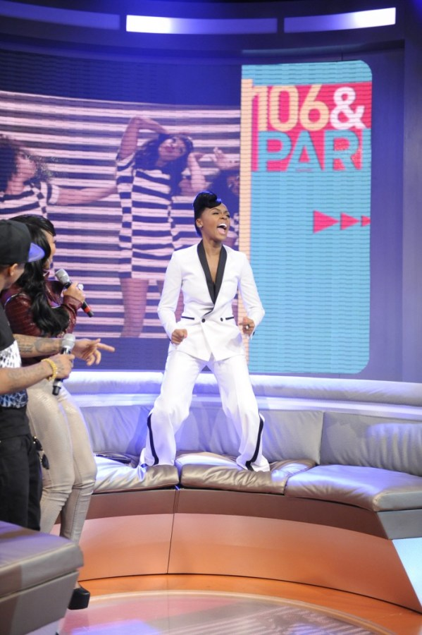 Janelle Monae at 106 & Park, May 1, 2013. (photo: John Ricard / BET)