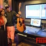 PHOTOS : Kandi Burruss & Stevie J Work On New Song In Studio
