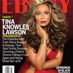 Lady In Red: Tina Knowles-Lawson Slays Sexy Ebony Cover With Golden Crown