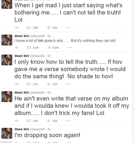 Meek Mill Drake Tweet
