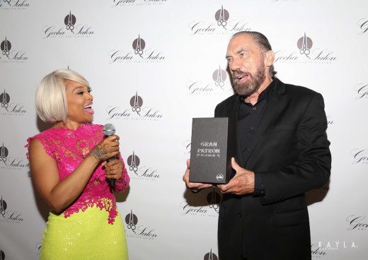 John Paul DeJoria gifts Gocha with a limited edition Gran Patron Platinum 2