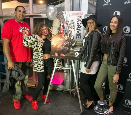 Shayne Pitts, Miss Mulatto, Misti Pitts and guest 1.1.16 THE RAP GAME Viewing Party012 SUITE_ATL_GA   135thST_C.Mitchell  2015CAM18909