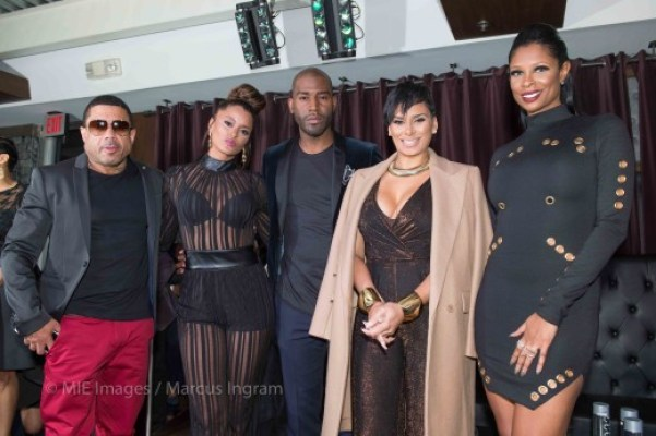 cast on stage - Benzino, Claudia Jordan, Karamo Brown, Laura Govan, Jennifer Williams