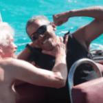 Kitesurfing Competition Between Billionaire Richard Branson And Former President Barack Obama