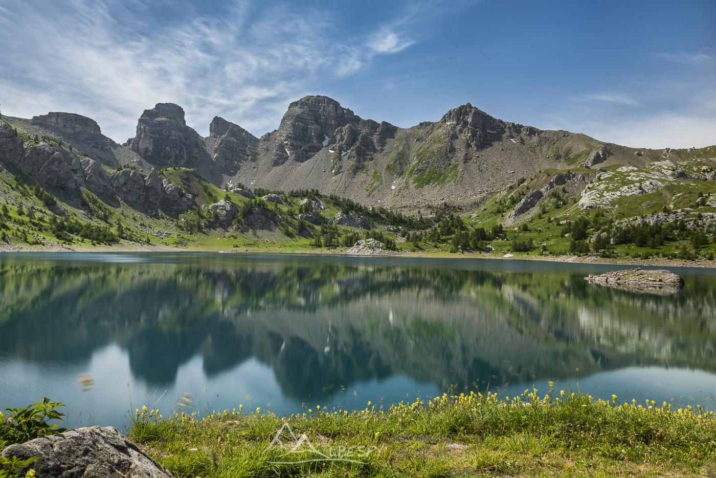 Lac d'Allos (Parc National du Mercantour - Alpes) n°0412