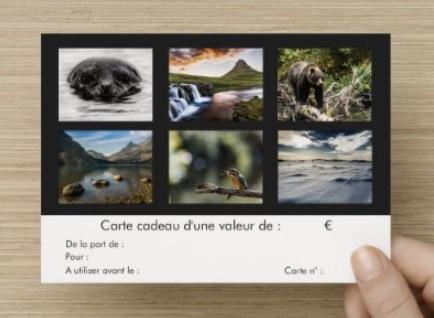 Carte Cadeau Verso