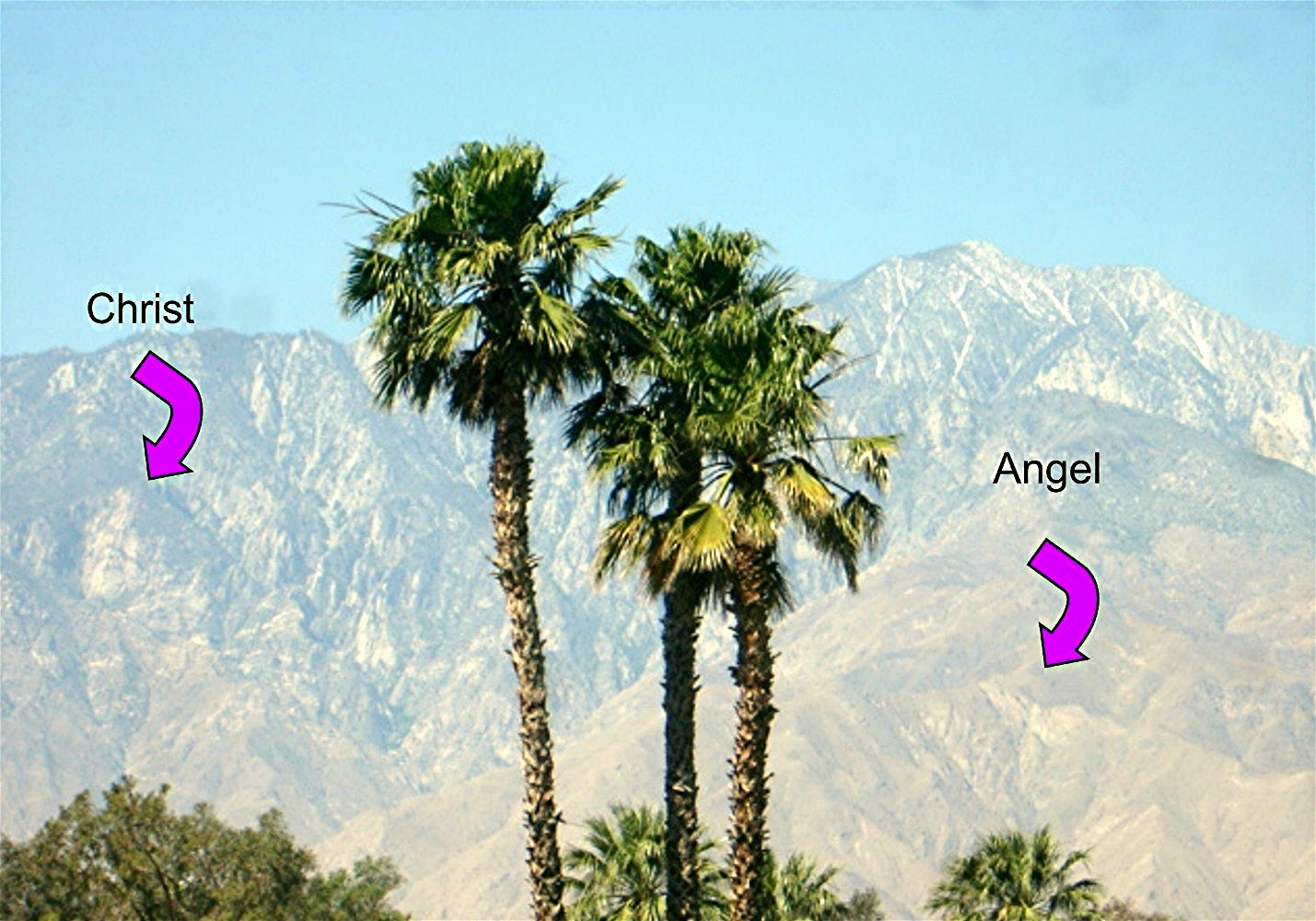 The Angel and The Christ on the San Jacinto Mountain, Palm Springs, CA