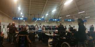 Travlhed ved bowlingbanen fra første minut efter den officielle velkomst