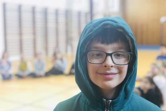 10-årige Keen Alexander Lind spiller Hodja i Hodja fra Pjort. Foto: Andreas Dyhrberg Andreassen, Fredericia AVISEN.