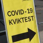 Covid-19 testskilt