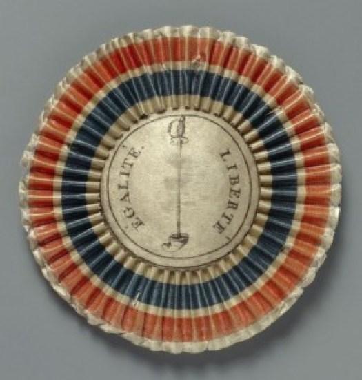 La cocarde de 1789 portée par les clubs révolutionnaires. DR
