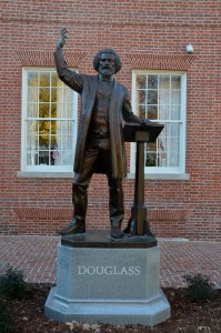 Frederick Douglass giving a speeach