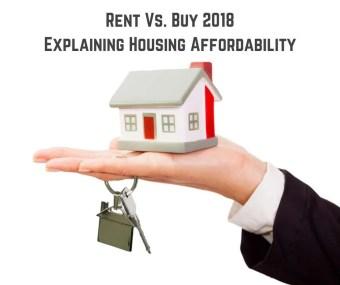 Rent Vs. Buy 2018 – Explaining Housing Affordability