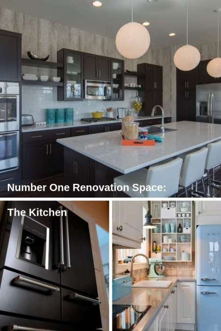 kitchen renovations are at the top of the list