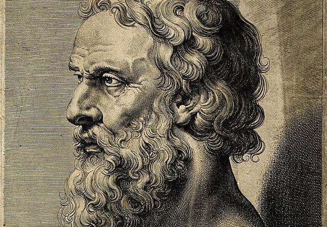 Plato._Line_engraving_by_L._Vorsterman_after_Sir_P._P._Ruben_Wellcome_V0004701