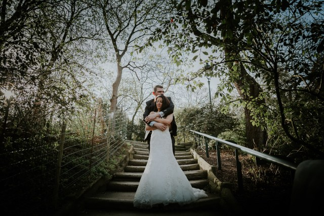 couple mariage trash the dress escaliers frederico santos meilleur photographe