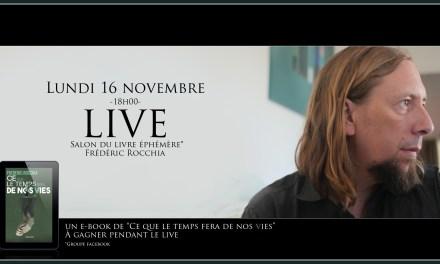 RDV le 16 novembre sur le salon du livre éphémère !