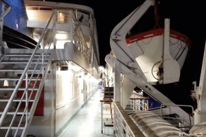 Ferry between Golfo-Aranci and Livorno - The tranquility at night on the ferry
