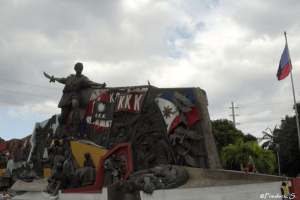 Monument in tribute to Katipunan (KKK), a secret society to liberate the country from the Spanish colonizers