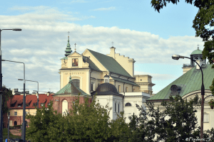 The back of St. Anne Church with Widokowy Tower