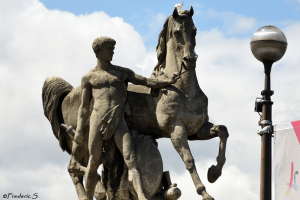 The Great Roman firmly holding his steed