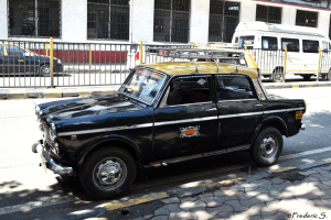 One of the old traditional taxis