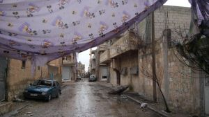 Street in Kobani, January 2015. Photo: Fréderike Geerdink