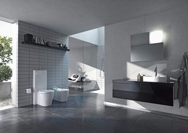 Badeværelse, Duravit, Sort/Hvid Design