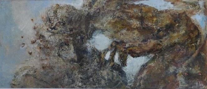 huile sur papier (20x47)