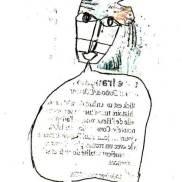 personnage qui parle, stylo, Blaize