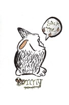 Bunny, encre et stylo, Blaize