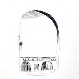 Vincennes, graphite sur papier, Blaize