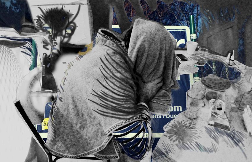 sans titre, collage numérique, Blaize
